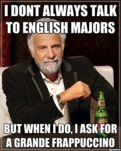 Bar jokes english major