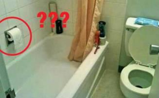 Toilet paper in tub
